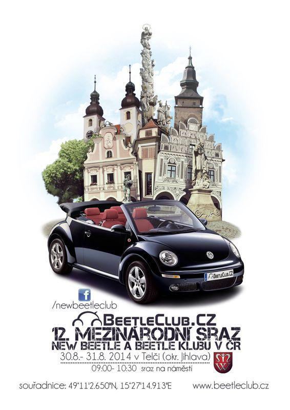 12. mezinárodní sraz New Beetle a Beetle klubu v ČR - Telč (okr. Jihlava)