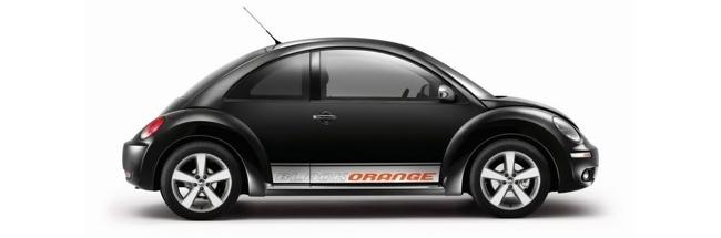 New Beetle Black Orange